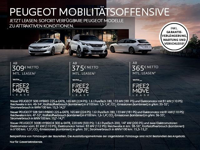 PEUGEOT Mobilitaetsoffensive – Jetzt sofort verfuegbare Plug-In Hybridfahrzeuge von PEUGEOT entdecken