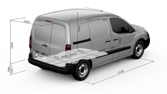 PEUGEOT-Partner-Kastenwagen-Abmessungen-innen-Innenraum
