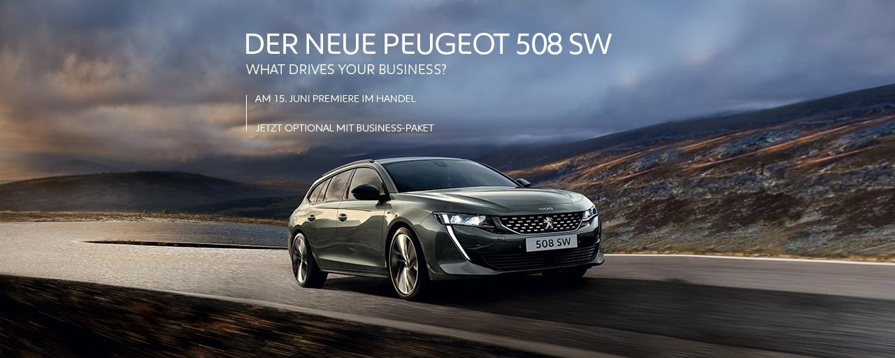 Neuer Kombi PEUGEOT 508SW fuer Gewerbekunden