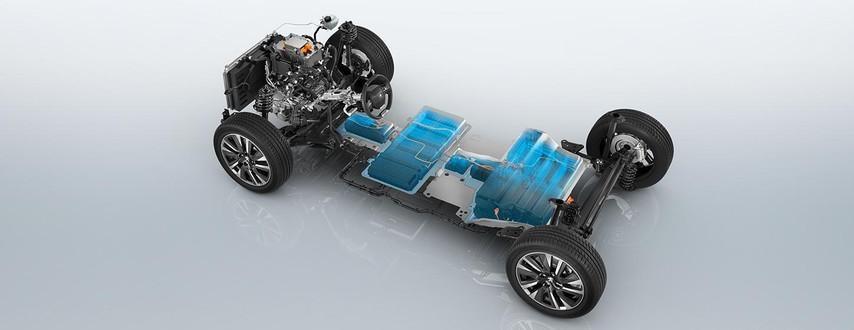 Neues Elektrofahrzeug PEUGEOT e2008 Fahrgestell