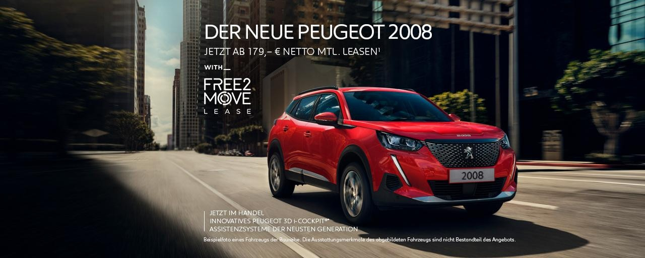 Neuer SUV PEUGEOT 2008 – Leasing Angebot