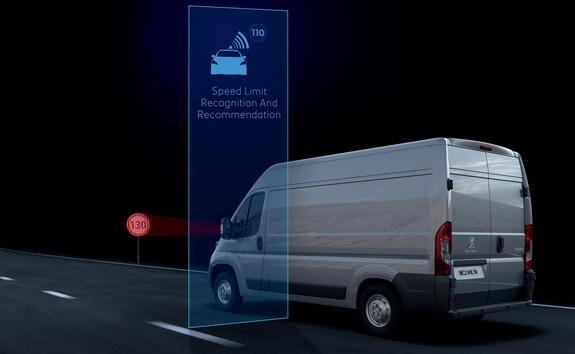 Kastenwagen-PEUGEOT-Geschwindigkeitswarner