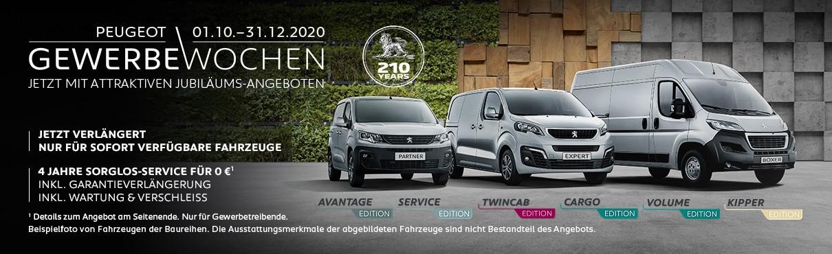 Gewerbewochen-Angebot – PEUGEOT Edition-Modelle