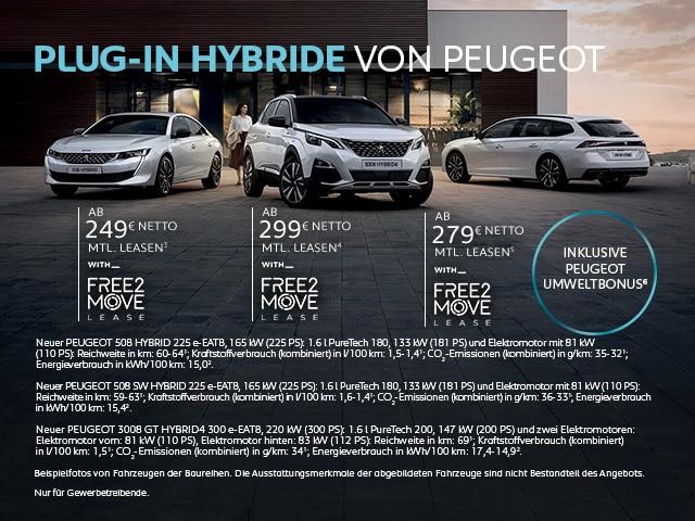 PEUGEOT Plug-In Hybrid Fahrzeuge
