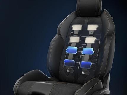Elektrisch verstellbare AGR-Sitze mit Memory-Funktion, Sitzheizung und Mehrpunktmassagefunktion – die Limousine PEUGEOT 508 fur Geschaftskunden
