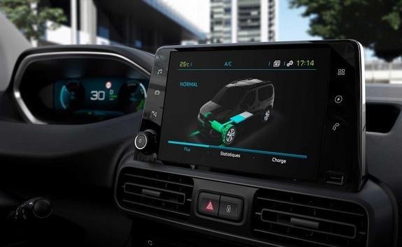 Elektro-Kastenwagen PEUGEOT e-Partner – Tochscreen