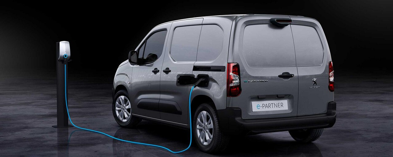 PEUGEOT e-Partner – Elektro-Kastenwagen Heckansicht