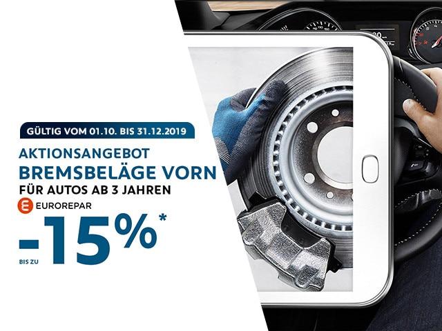 Aktionsangebot-bis Dezember-Bremsbelage-PEUGEOT-EUROREPAR