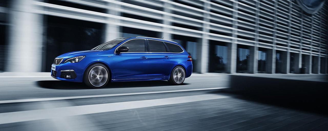 PEUGEOT 308 SW Kombi blau sportlich modern perfekter Firmenwagen