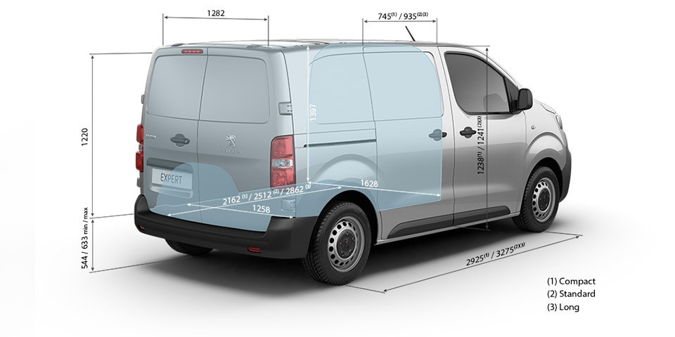 PEUGEOT Expert Kastenwagen technische Daten Abmessungen innen