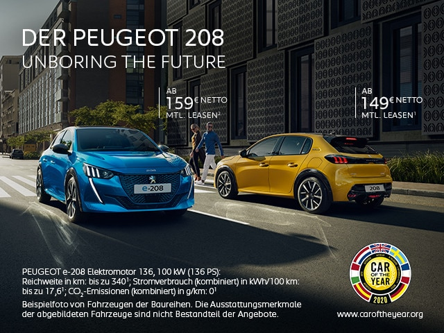 PEUGEOT 208 & e-208 – Leasing Angebote