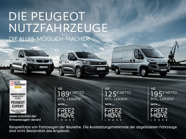 PEUGEOT Nutzfahrzeuge – Leasing Angebote
