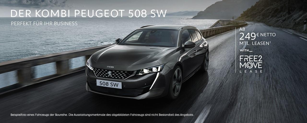 Kombi PEUGEOT 508 SW als Firmenwagen – Leasing Angebote entdecken!